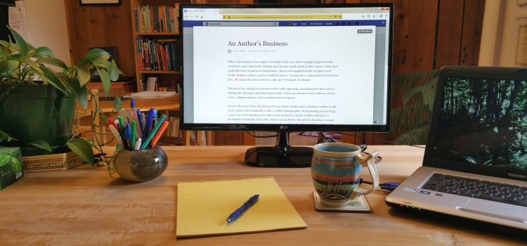 An Author's Business: My Writing Desk